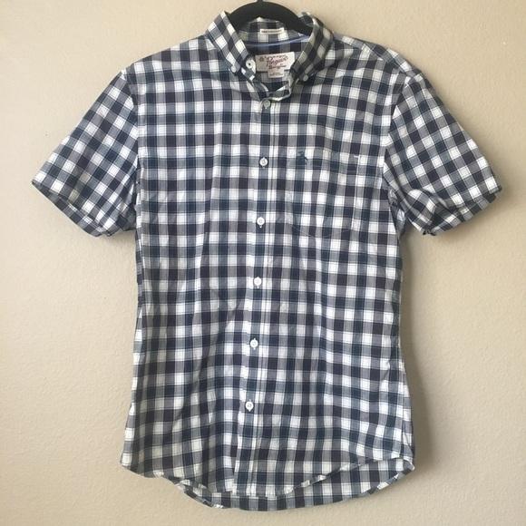 20939b63 Original Penguin Shirts | Penguin Short Sleeve Checker Plaid ...